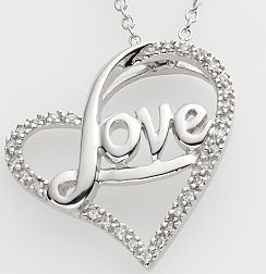 Kohls 200 diamond love pendant necklace only 64 wheel n as mozeypictures Images