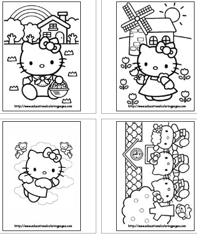 totally love this one head over to educational coloring pages - Coloring Pages Kitty Summer