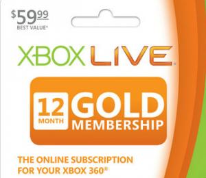 12 Month Xbox Live Gold Membership just $39.99!! Reg. $59.99