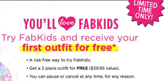 hot free 3 piece outfit from fabkids just pay 7 95