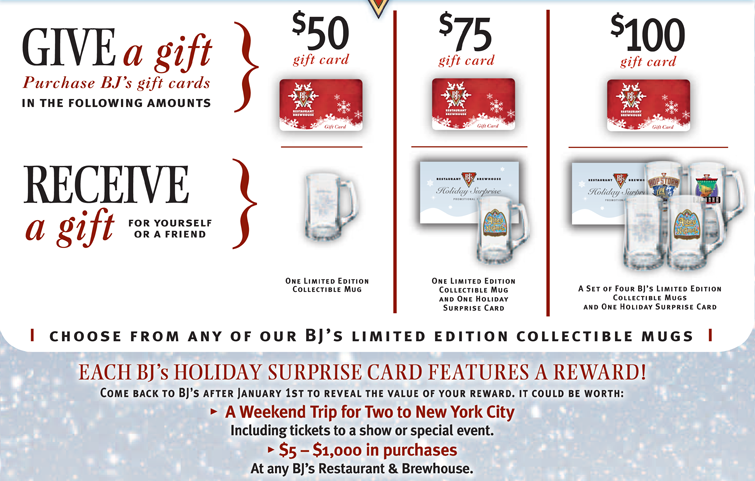 Get special offers and discounts with BJ's Restaurant & Brewhouse coupons and promotions for December on RetailMeNot.