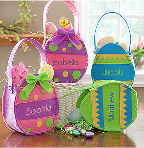 Personalized Easter Baskets Egg Treat Bags