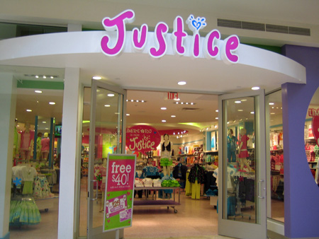 Justice: 40% Off Online and Instore Coupon Justice offers 40% off via coupon code online & visit store to get 40% Off automatically at checkout. Shipping is $5.