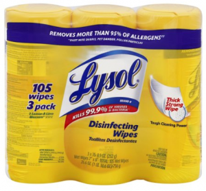 3 Pack of Lysol Disinfecting Wipes just $3.22 shipped!!!