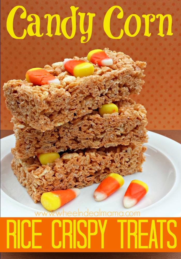 Rice Crispy Candy Corn Treats