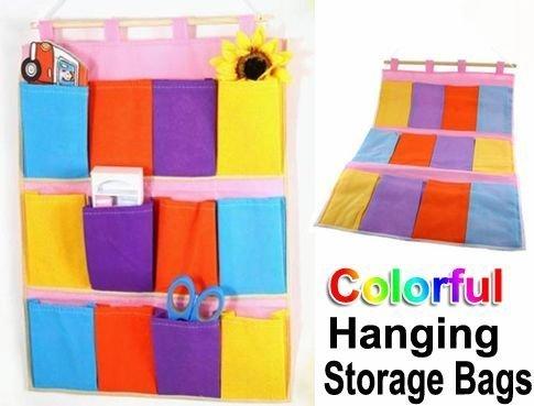 colorful hanging storage bag