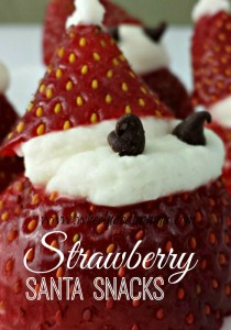 Strawberry Santa Snacks!  Perfect treat for a Holiday Party