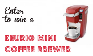 Giveaway!   Win a Keurig Mini Coffee Brewer!!