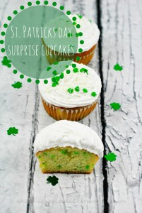 St. Patricks Day Surprise Cupcakes