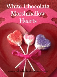 White Chocolate Marshmallow Hearts