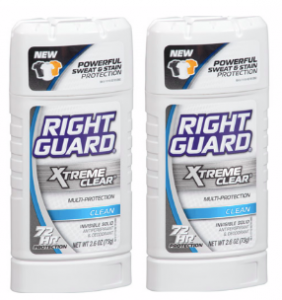 TWO Free Right Guard Xtreme Clear Deodorants at Target 3/30!
