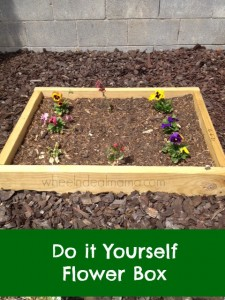 Easy Do-it-Yourself Flower Box + Enter to win one of 150 $20 Gift Cards to The Home Depot! #SpringIntoSavings