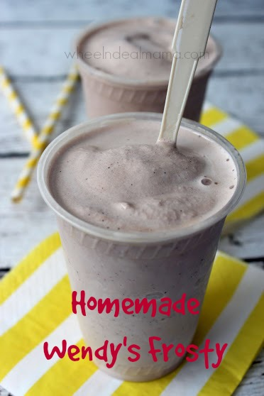 Homemade Wendy's Frosty {Copycat Recipe} - Wheel N Deal Mama