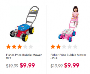 Toys R Us: Pink and Blue Bubble Mowers just $9.99 + FREE In Store Pick Up!