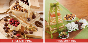 Harry & David: FREE Shipping + 50% off Tower of Treats and Tower of Chocolates!!