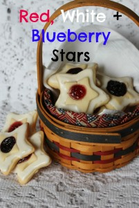 Red, White and Blueberry Stars