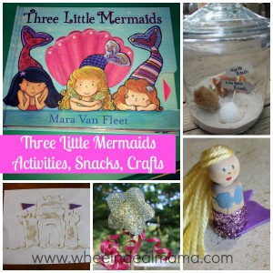 Three Little Mermaids: Snacks, Activities, and Crafts, Part 2: Crafts