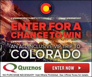 Enter to win an All Inclusive Colorado Vacation from Quiznos!