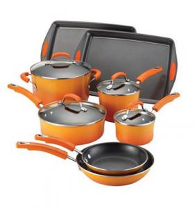 Rachael Ray® Porcelain II Nonstick Orange 12-pc Cookware Set JUST $79.99!!! Reg. $238!!!