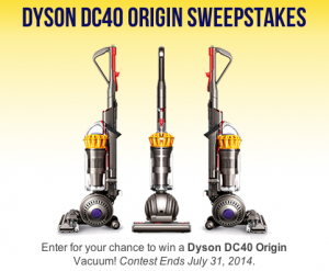 Win a Dyson DC40 Origin!! Easy entry!