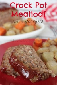 Crock Pot Meatloaf with Veggies