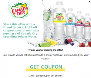 High Value Coupon!! Get $1.75 off Canada Dry Sparkling Seltzer Water!! #addsparkle