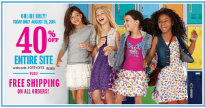 Children's Place: *HOT* FREE Shipping + 40% off!!! Today only!!