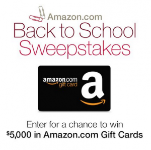 Enter to win a $5000 Gift Card in Amazon's Back to School Sweepstakes!