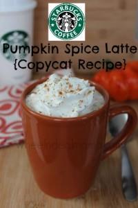 Starbucks Pumpkin Spice Latte {Copycat Recipe}