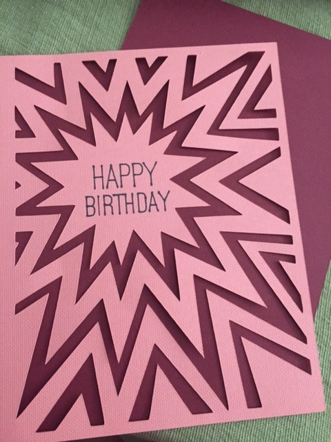 Cricut Bday card