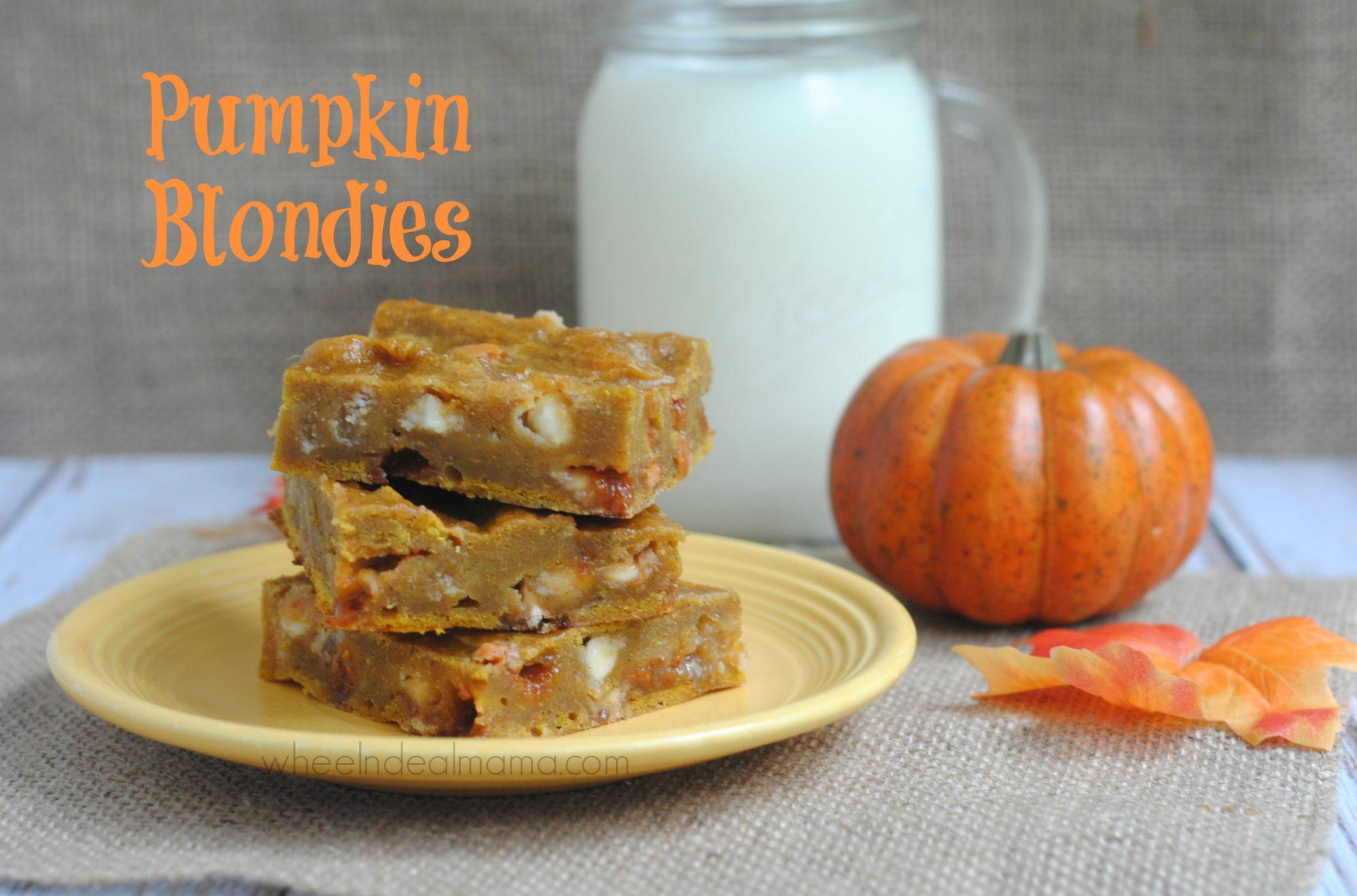 Pumpkin Blondies - Wheel N Deal Mama