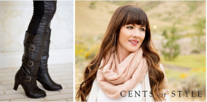 Cents of Style Fashion Friday!! Pair of Tall Buckle Boots AND a Sweater Infinity Scarf just $32.95 Shipped!!! Reg. $70!!