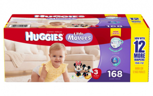 Huggies® Little Movers Diapers Give the Best Protection with New Design! Best Price at Sam's Club!