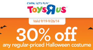 Toys R Us: 30% off Halloween Costumes!!! In store and Online!