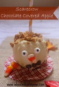 Scarecrow Chocolate Covered Apple