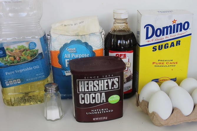 ingredients for ghost brownies