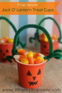 Jack O' Lantern Treat Cups – K Cup Upcycle