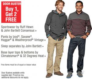 Bon-Ton: *HOT* Menswear Buy 1, Get TWO FREE + FREE Shipping!!!