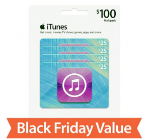 Four $25 iTunes Gift Cards just $79.47!!! $100 Value!