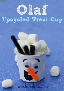 Disney's Frozen Inspired Olaf Upcycled Treat Cup