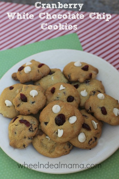 white choc cranberry cookies