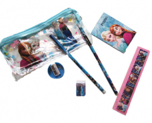 Disney's Frozen Elsa & Anna Pencil Bag Set (7 items!) just $2.36 + FREE shipping!