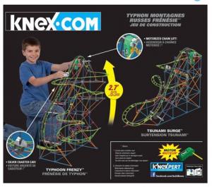 K'NEX Thrill Rides Typhoon Frenzy Roller-Coaster Building Set just $19.97!! Reg. $50!