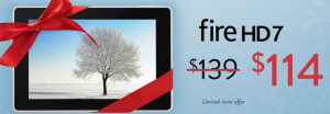 $25 off the Kindle Fire HD 7!! Limited time only!