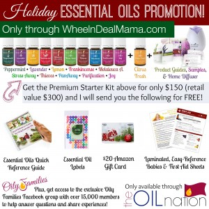 FIVE DAYS ONLY! Get a FREE Amazon Gift Card + More Goodies when you Buy a Young Living Essential Oils Starter Kit!