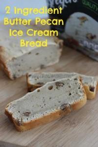 2 Ingredient Butter Pecan Ice Cream Bread