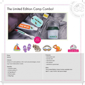 Mabel's Labels Limited Edition Summer Camp Labels!! Up to 50% off! #ICCAMPMABEL #ad #IC