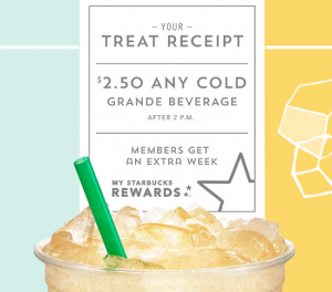 Starbucks Treat Receipt is BACK! Plus, get a FREE Starbucks drink!