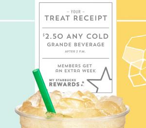 Starbucks Treat Receipt is BACK! Plus, get a FREE Starbucks drink!