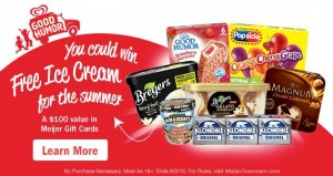 Enter to win FREE Ice Cream for the Summer!! $100 in Meijer Gift Cards! #ad #MeijerIceCreamSummer